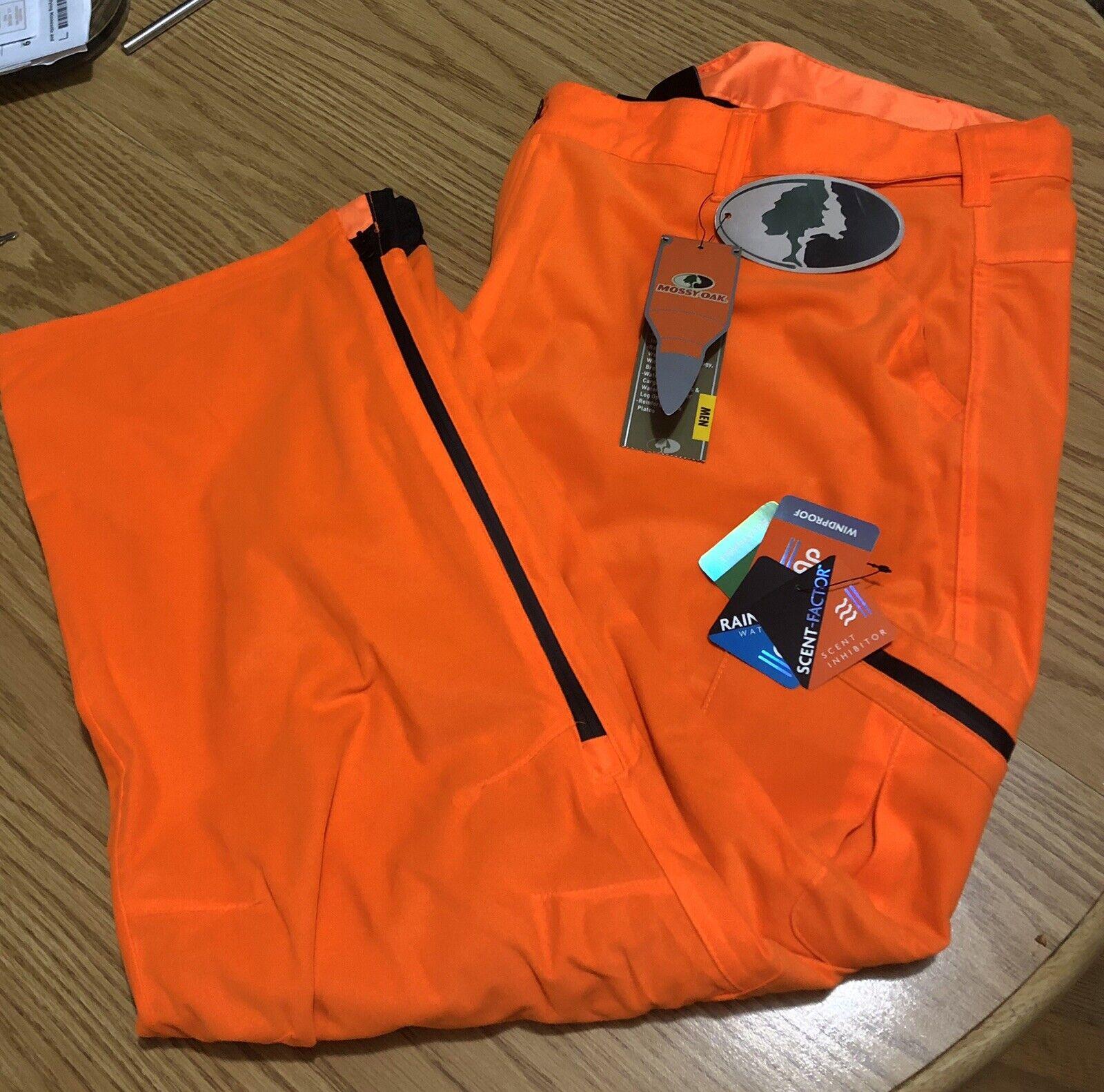 Men's Mossy Oak Blaze orange 3XL Scent Control, Waterproof & Breathable Pant New