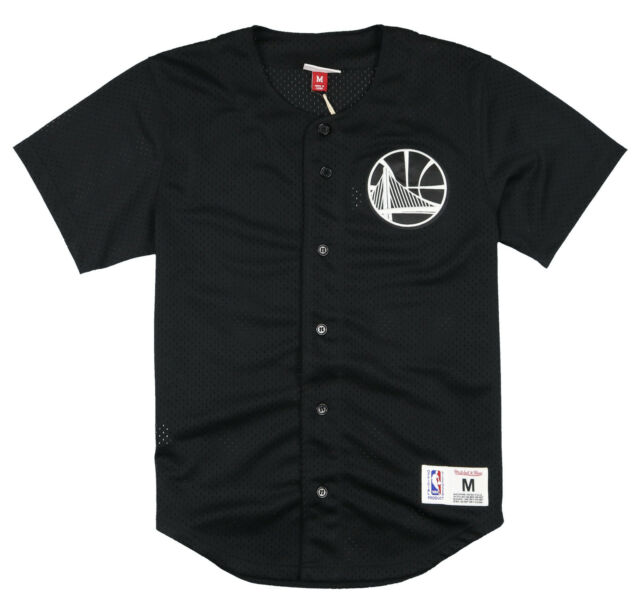 8d6845704 ... official store mitchell ness golden state warriors mesh button front  jersey small black nba fa6d0 83dc3