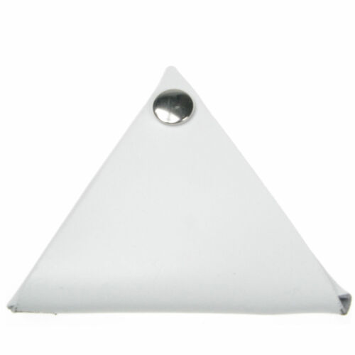 White Real Leather Triangular Coin Purse Wallet Handmade In UK Leather Wallet