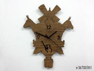 Don Quixote Modern Cuckoo clock - Wooden Wall Clock