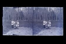 France Photo famille Plaque de verre stéréo NEGATIF vers 1925