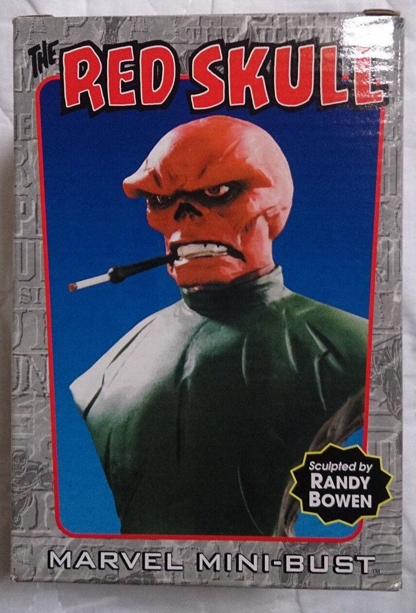 förundras serier Bowen Captain America röd Skull mini byst  staty med VGC -låda