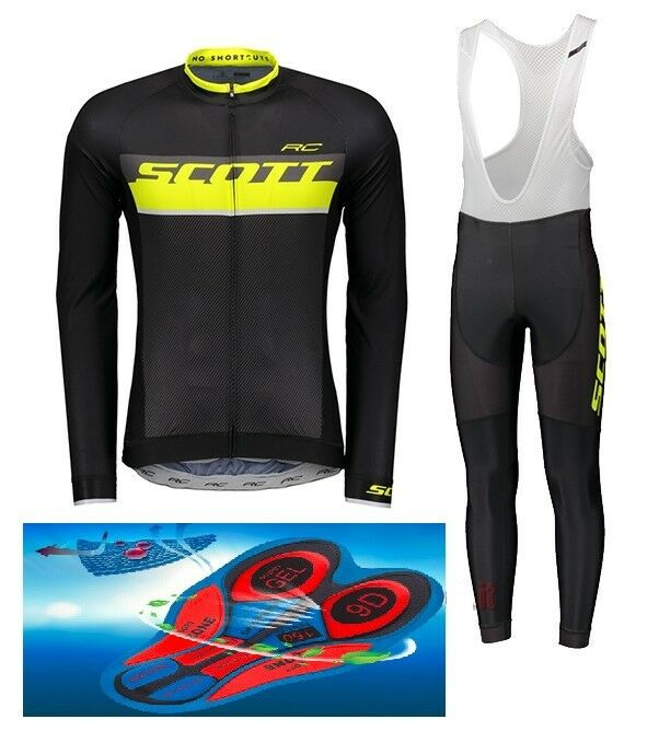 Divisa invernale SCOTT RC TEAM 018 cycling SET winter thermal 9D GEL PAD