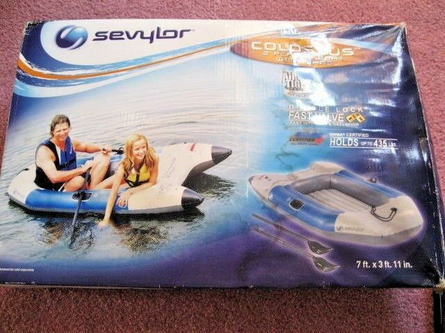 New Sevylor A Coleman Company Colossus 2 Person Inflatable Boat With Oars