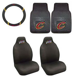 Cleveland Cavaliers Seat Covers Set With Rubber Floor Mats