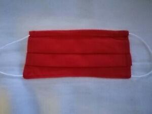 masque de protection artisanal Adulte rouge en coton  lavable et réutilisable
