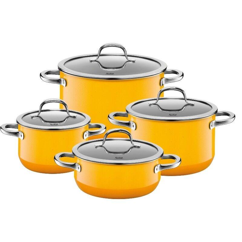 Silit Passion amarillo cazuelas 4 pzas. inducción silargan utensilios 2109298175