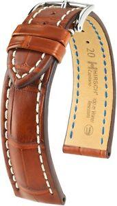 Uhrenarmband-HIRSCH-Capitano-Uhrenband-Louisiana-Alligator-Echt-Kroko-Leder