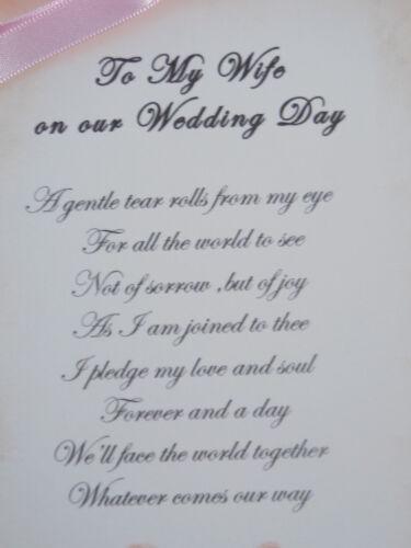 A mi esposa en nuestra tarjeta de día de bodas-Estilo Vintage-Hecho a Mano-Recuerdo