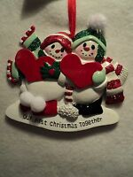 Ksa our 1st Christmas Together Snow Couple Ornament