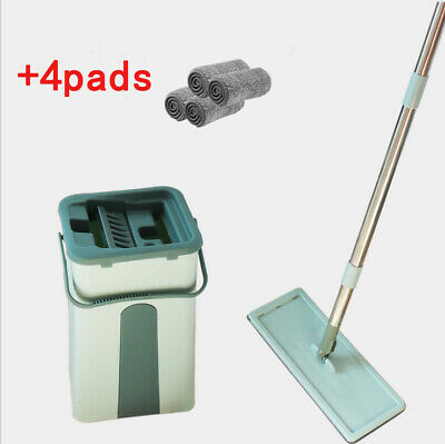 Wischmop Mopp Bodenwischer Set 360°Teleskopstiel Hands Free Komfort-Mopp 10 Pads