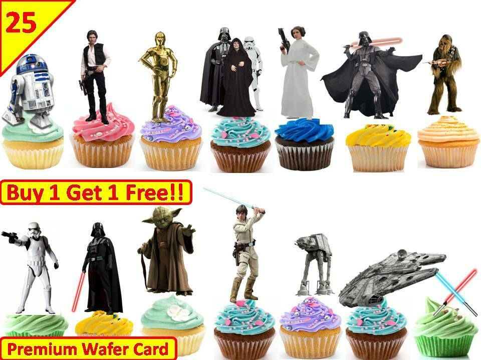 60x 1st BIRTHDAY Premium Edible Stand Up Rice Wafer Cup Cake Toppers Fairy D10