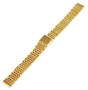 Edelstahl-Gliederband-Uhrenband-Gold-12-mm-Faltschliesse-Ersatzband-XRP8204012084