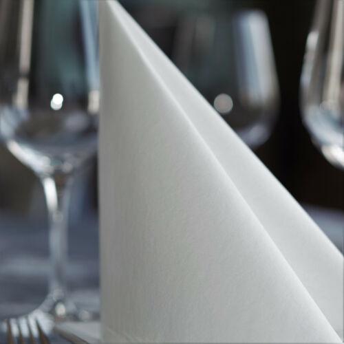 50 Servietten Stoffähnlich weiß weiss Airlaid 40 x 40 cm Taufe Hochzeit Dinner