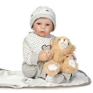 20 Realistic Reborn Baby Dolls Handmade Soft Vinyl Silicone Doll With Clothes Ebay