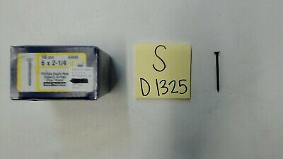 "Pack of 100 Metallics JDWS6C #6 x 2-1//4/"" Self Piercing Drywall Screw"