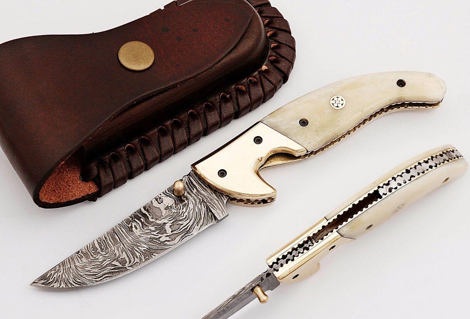 Coltellino Damasco, Damascus Folding Knife, 4227 10