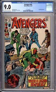 Avengers-81-CGC-Graded-9-0-VF-NM-Marvel-Comics-1970