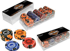 harley davidson poker chip set