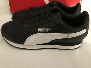 9e0d008e1547a2 Image is loading Puma-Turin-Junior-Youth-Sneakers-Shoes-Black-White-