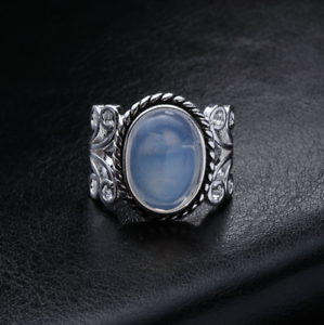 Rainbow-Moonstone-Ring-Solid-Silver-Plated-Handmade-Jewelry-Size-6-10
