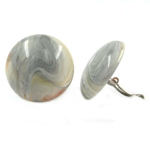 Joyas pendiente aretes ohrclip fisura beige gris 30 mm