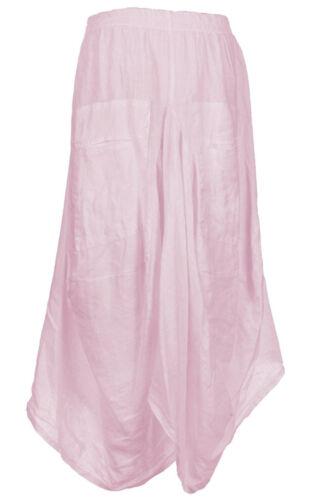 Ladies Lagenlook Italian BOHO Layering Linen Parachute Harem Tulip SKIRT 10-14
