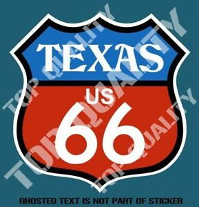 Image Is Loading TEXAS ROUTE 66 DECAL STICKER VINTAGE AMERICANA HOT
