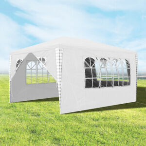 Gazebo-Marquee-White-Tent-Party-Outdoor-Garden-Camping-Sun-Protection-3X4M