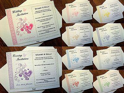 """Bello A6 Personalizzato Nozze/sera Inviti Biglietto & Busta * 9 Colori *-g Invitation Card & Envelope *9 Colours*"""" Data-mtsrclang=""""it-it Mostra Il Titolo Originale"""