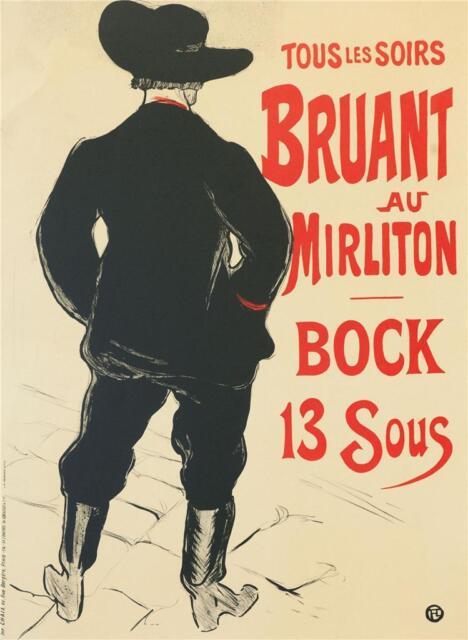 Toulouse Lautrec Bruant au Mirliton Fine Art Lithograph S2