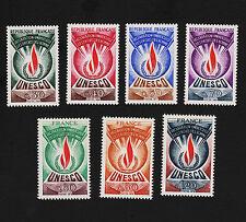 1960-70's France Unesco Sets Sc#2O9-2O15 Mint Never Hinged VF 15401