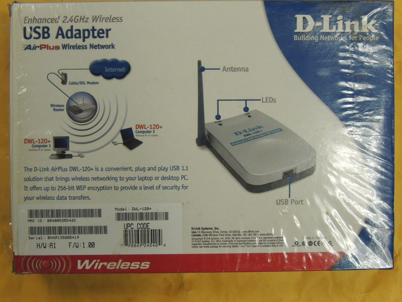 D-LINK AIRPLUS DWL-120 DRIVERS FOR WINDOWS 7