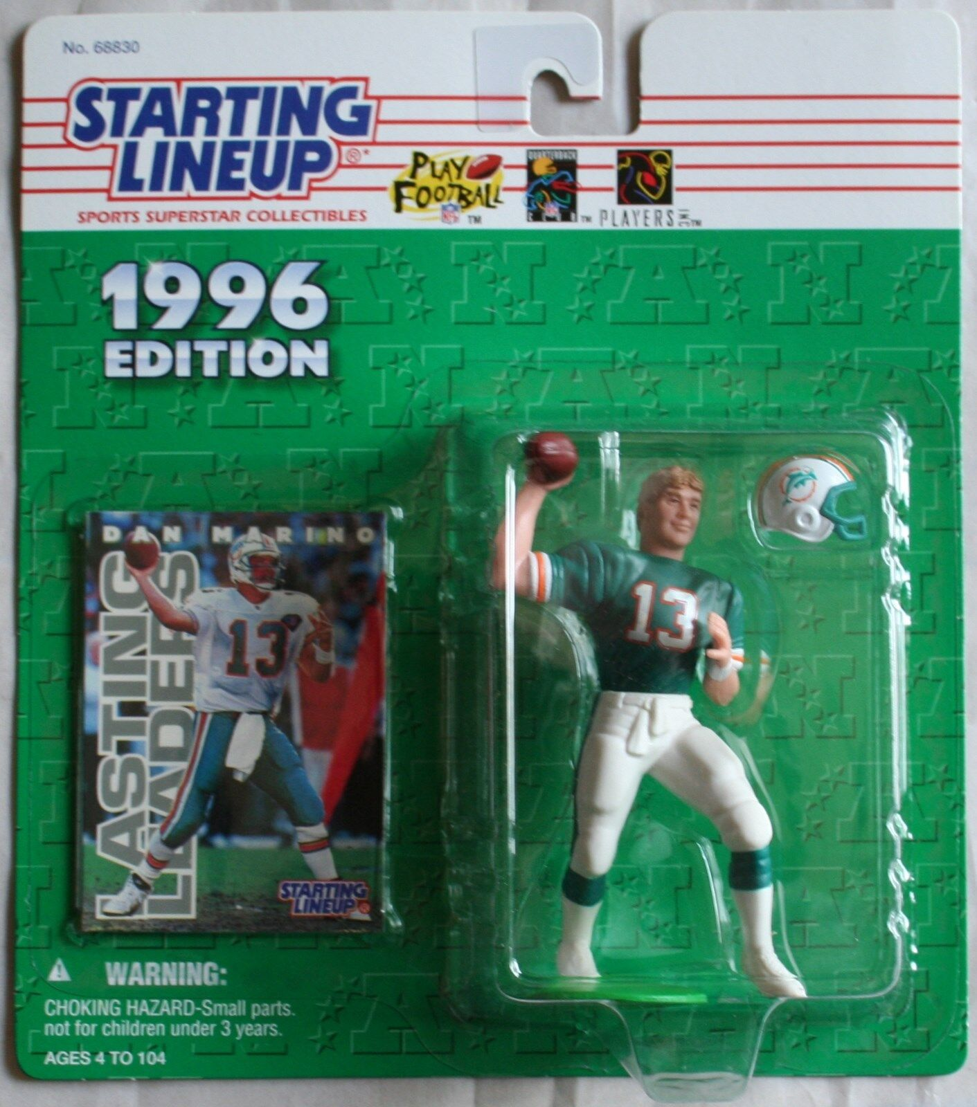 1996 Edition Starting Lineup (8) Different Football Action Figures & (1)Baseball