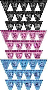 12ft-Glitz-Prism-Banner-Triangle-Flag-Bunting-Banner-Unique-Party-Decorations