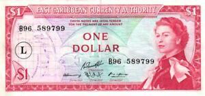 02 East Caribbean States / Ostkaribische Staaten P13l 1 Dollar 1965 Mit Einem LangjäHrigen Ruf