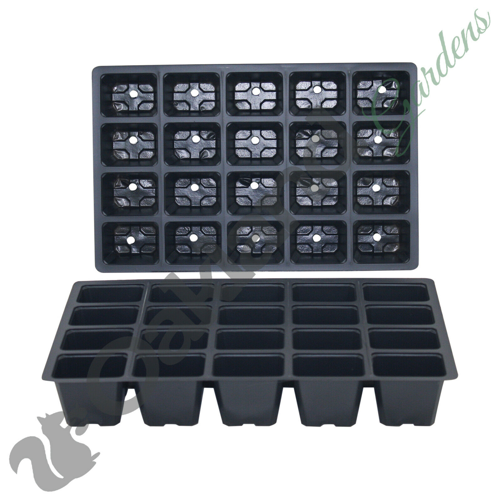 5 X 20 Cell Seed Tray Inserts Full Size Plug Trays Bedding Plant Pack