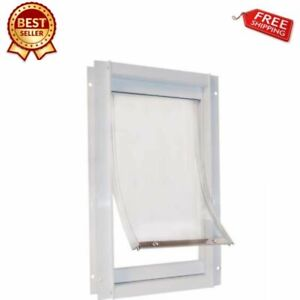 7-034-X-11-034-Medium-Replacement-Flap-Plastic-Pet-Door-Dog-New-Style-Simple-Install