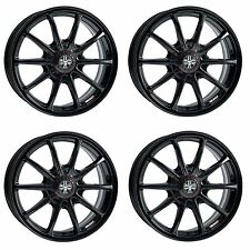 4x Wolfrace Pro-Lite Eco 2.0 Gloss Black Alloy Wheels - 4x114.3 | 15x7"