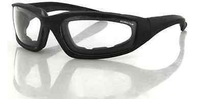 Bobster Foamerz II Motorcycle Sunglasses Black//Amber Lens One Size