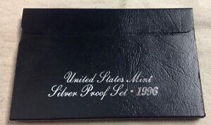 1996-US-MINT-SILVER-PROOF-SET-Complete-w-Original-Box-and-COA
