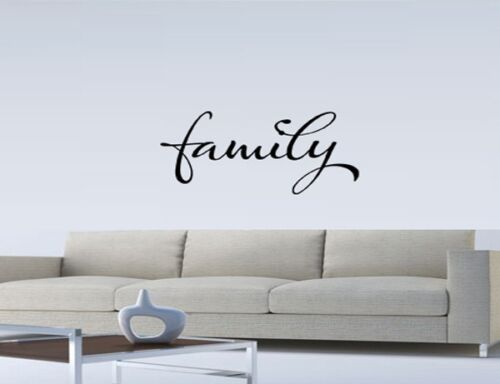 FAMILY WALL QUOTE DECAL STICKER VINYL HOME SAYING Family Vinyl Wall Art