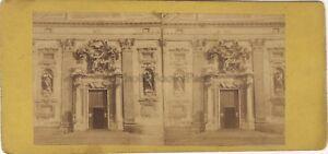 Genova Entrée Basilique Santa Maria Assunta Italia Stereo Vintage Albumina