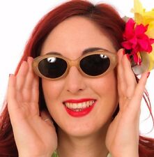 Vintage deadstock frosted orange cat eye sunglasses rockabilly retro pin-up