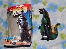 "VTG Kid's Goods 6.5"" tall Bootleg Pull Back & Go Action Godzilla Dinosaur Toy"