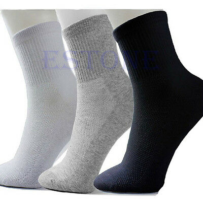 10 Pairs Lot Man Cosy Cotton Sport Socks For Football Basketball 3 Colors