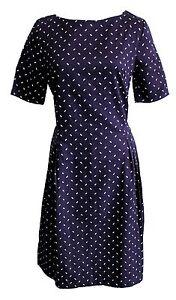 People-Tree-Kleid-Elizabeth-Dress-Gr-36-38-40-42-dunkelblau-Muster-Fairtrade-V9