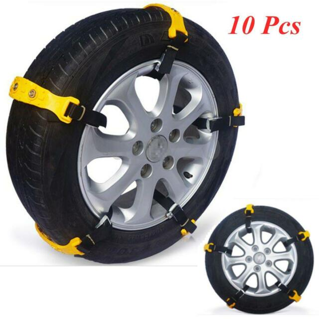 10Pcs Car SUV Truck Snow Tire Tyre Chains Anti-skid Reusable Safety Zip Grip New