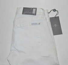 """Seven 7 for All Mankind WOMEN'S Jeans WHITE CAPRIS cropped 25x22"""" *NEW *"""