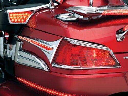 Kuryakyn Chrome Top Trunk Tail Light Visors Trim Accent Honda Goldwing 1800 2016